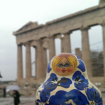 Pencil at the Acropolis