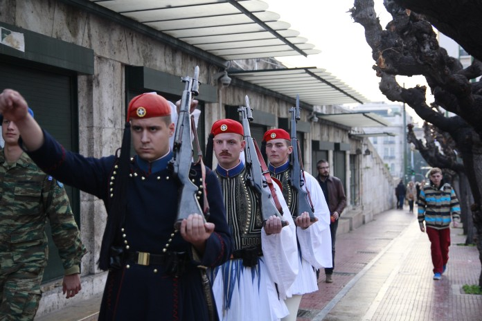 Changing of the Guards Ceremony Athens Greece Greek Parliament